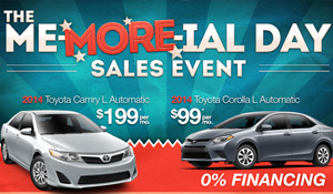 Toyota Me-More-ial Day Sales Event